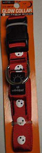 LED Glow Dog Collar (Red, Skull)