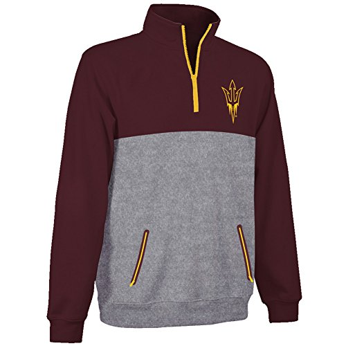 Arizona State Sun Devils Performance Quarter Zip Sweatshirt Maroon - XXL