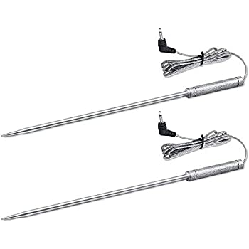 Upgraded 8 Inches Meat Thermometer Probe Replacement Temperature Probe for Thermopro TP20 TP17 TP16 TP10 TP09 TP08 TP-08S TP-07 TP06S TP04, Famili MT004 OT007 OT009 OT-08, Fit Listed Models Only