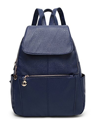TSRHFGT Satchel Travel Leisure Bag Backpack Leather Sturdy For Casual Outdoors Women Bag Girls Purse Blue School q0gwrq