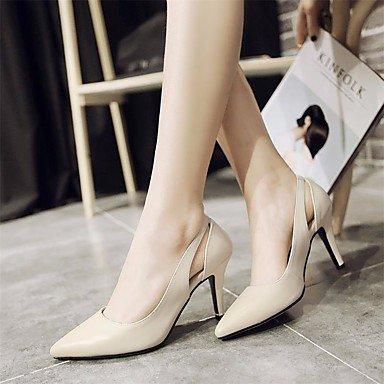 LvYuan-ggx Femme Chaussures à Talons Escarpin Basique Confort Vrai cuir Printemps Eté Décontracté Escarpin Basique Confort Noir Beige 5 à 7 cm beige oVgQtF