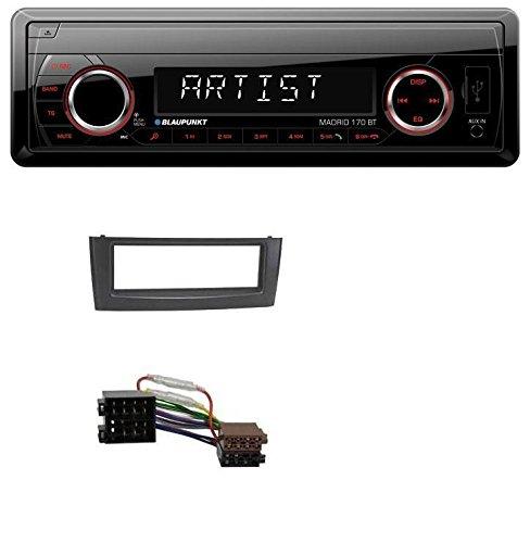 caraudio24 Blaupunkt Madrid 170 BT MP3 USB Aux Bluetooth SD Autoradio fü r FIAT Grande Punto Punto ab 05 Schwarz