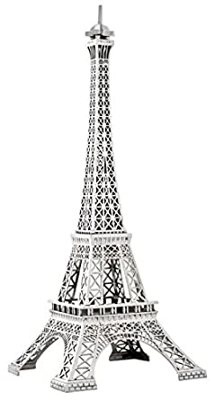 Casa Padrino luxury floor lamp Eiffel Tower Silver - Solid Nickel ...