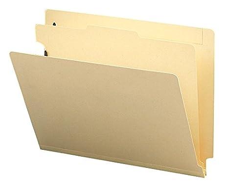 Smead End Tab Classification File Folder, 1 Divider, 2 Expansion, Letter Size, Manila, 10 per Box (26825) 2 Expansion Smead Inc.