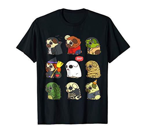 Halloween Puglie T-Shirt Dog Halloween Gifts Idea Shirt -