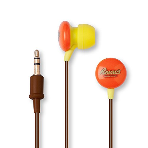 Candy Comfort Earphones Reese'S Peanut Butter Cups 3.5mm Stereo Headsets -