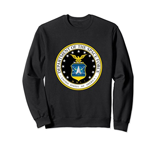 Unisex Department Of The United States Space Force Sweatshirt Small Black
