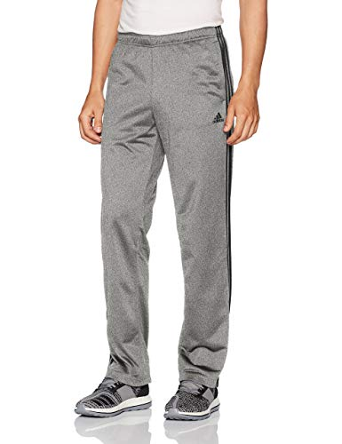 adidas Men's Athletics Essential Tricot 3-Stripe Pants, Dark Grey/Black, X-Large