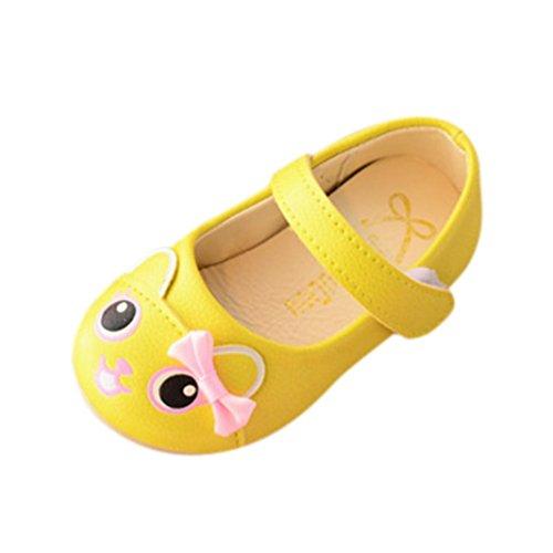 Girls Fashion Cartoon Sandals,Pricness Kids Children Shoes 1-3 T (Size:24, Age:2.5T, US:8, Yellow) ()