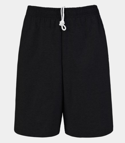 Fruit of the Loom Men's Jersey Short Black XL - Mens Cotton Gym Shorts