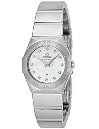 OMEGA Constellation white pearl dial diamond 123.10.24.60.55.004 Ladies wristwatch