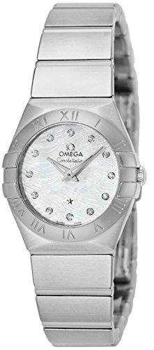 OMEGA Constellation white pearl dial diamond 123.10.24.60.55.004 Ladies - Ms Outlets Of Pearl