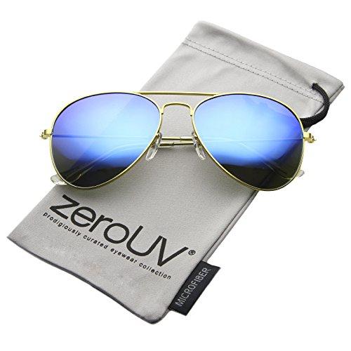 Premium Flash Mirror Lens Aviator Sunglasses
