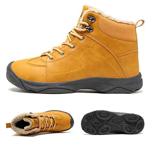 Axcone Homme Femme Chaussures Trekking Randonnée Bottes de Neige Hiver Imperméable Outdoor Boots Fourrure Cuir… 2