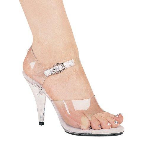ELLIE 405-BROOK 4 Heel Clear Womens Sandal , Clear, 5 Size