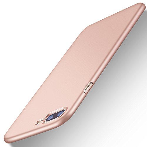 Pink Plastic Case (iPhone 7 Plus Case, iPhone 8 Plus Case, TORRAS Slim Fit Shell Hard Plastic Full Protective Anti-Scratch Resistant Cover Case for Apple iPhone 7 Plus (2016)/iPhone 8 Plus (2017)- Rose Gold)