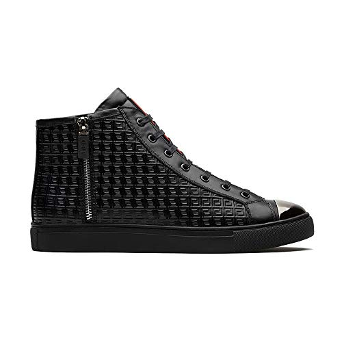 OPP Men's Fashion Leather Sneaker Casual High Top Shoes (11.5 D(M) US, OPP Black)