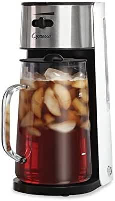 Capresso #624 Ice Tea Maker, White/Stainless