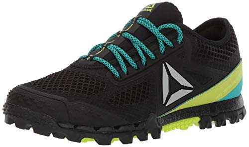 c2f8ce788a3ab Reebok Women's at Super 3.0 Stealth Running Shoe Black/Solid Teal/neon Lime/