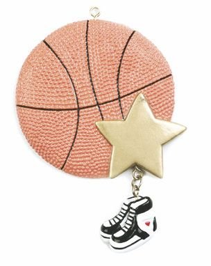 Basketball Star Sports Personalized Christmas Tree Ornament-Free Personalization