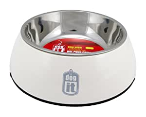 Dogit 2-in-1 Durable Bowl, White, X-Small