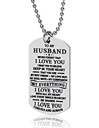 Boyfriend Husband Gifts - to My Love Dog Tag Pendant...