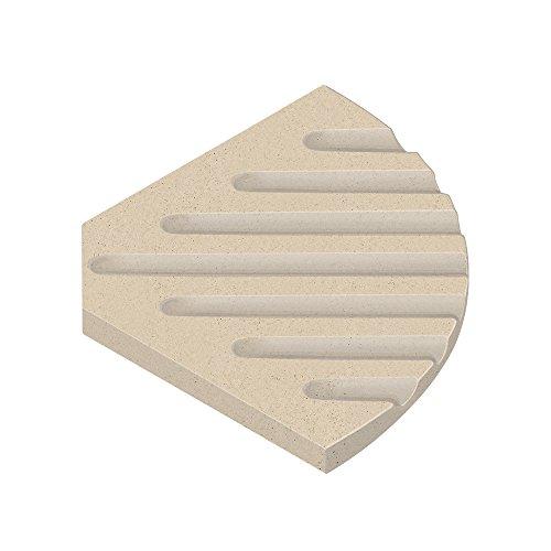 (Transolid SOAPDISH03-B1 Decor 5-1/2-Inch Corner Soap Dish, Matrix Khaki )