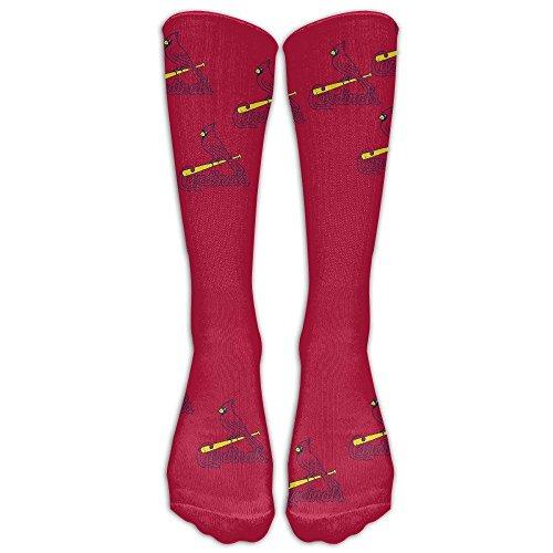 HEI222 Costume Cosply Socks Halloween Funny Unisex St. Louis Cardinals Logo Art Design Print Crew Fashion Novelty Socks WhiteOne Size