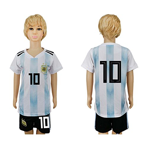 Price comparison product image JONGIGO Argentina Team 10 Home 2018 World Cup Kids White / Blue Soccer jersey - XXS