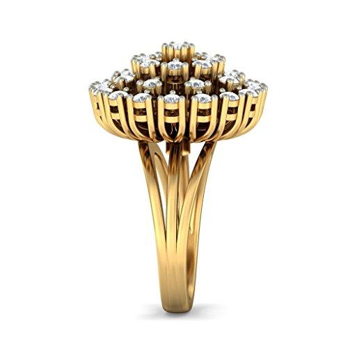 14K Or jaune, 1,5carat Diamant Blanc (IJ   SI) en diamant