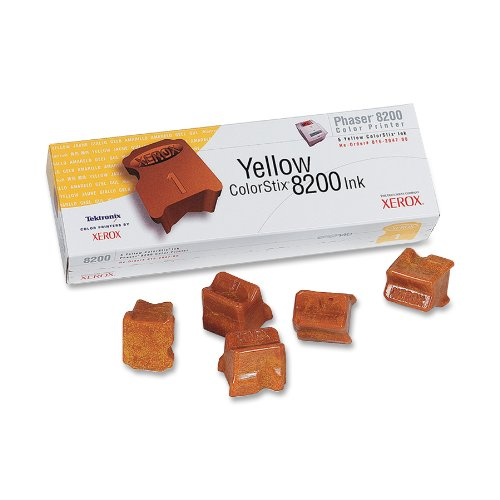 5-Pack Yellow Genuine Colorstix Ink for Phaser 8200