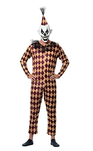 Sponch Costumes (Sponch Evil Prank Clown Adult Halloween Costume, Large)