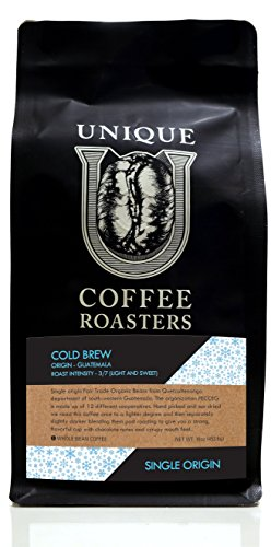 Cold Brew Blend Organic Whole Bean Coffee - Unique Coffee Roasters - 16 oz - 1 LB Bag