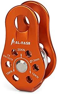Lixada 20KN Dual Pulley Zip Line/30KN Fixed Single Pulley Rock Climbing Rescue Manual Rope Grab Rescue Equipme