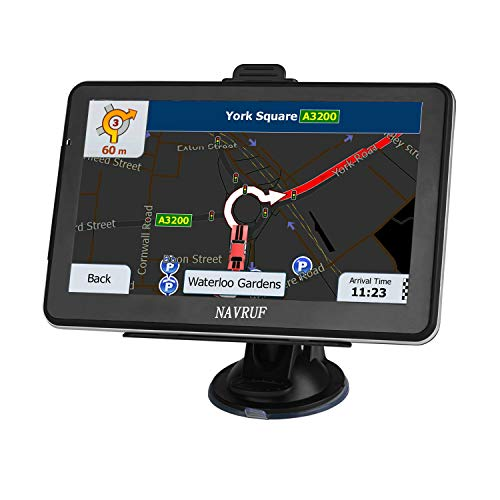 Car GPS Navigation, LONGRUF 5-inch HD Display, 256MB-8GB Real Voice Broadcast, Install The Latest Map of The United States (Free Update Lifetime Map)