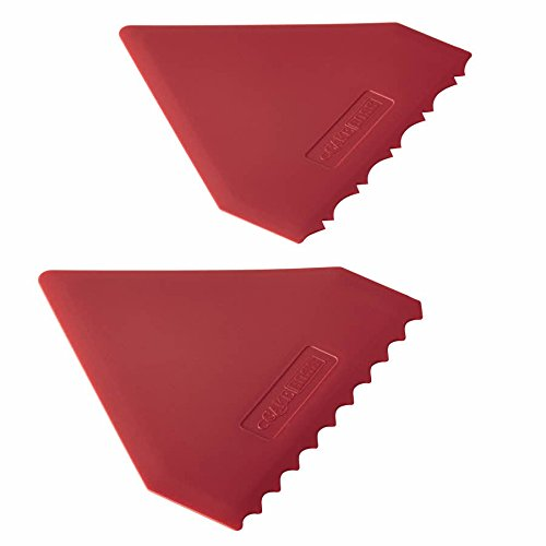 Cake Boss Decorating Tools 2-Piece Plastic Icing Comb Set, Red