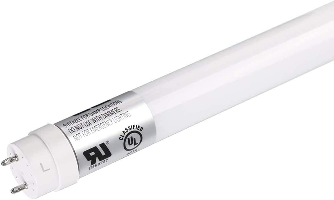 17W 2200lm Type A UL /& DLC Listed Ballast Bypass Dual -Ended Connection Daylight White 5000K Frosted Cover LE 25-Pack 4ft T8 LED Light Tube 40W Equivalent Pack of 25