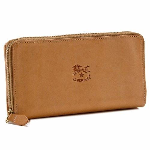IL BISONTE(イルビゾンテ) 財布 レディース メンズ カーフスキン ラウンドファスナー長財布 ライトベージュ C0857-P-120[並行輸入品] B00G3U2842