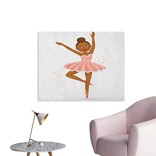 Anzhutwelve Girls Art Decor Decals Stickers Ballerina Dancing