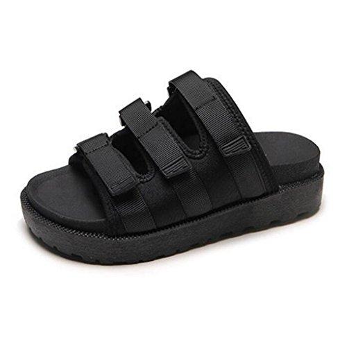 Femelle Pantoufles D'oscillation Black Antidérapantes Bascule Les D'été Mode Xy® Plage D'étudiant Sandales Extérieur Augmentent De Chaussures Fraîches wFFO8q