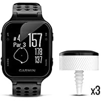 $259 » Garmin Approach S20 Bundle, GPS Golf Watch with Step Tracking and Preloaded Courses, Includes…