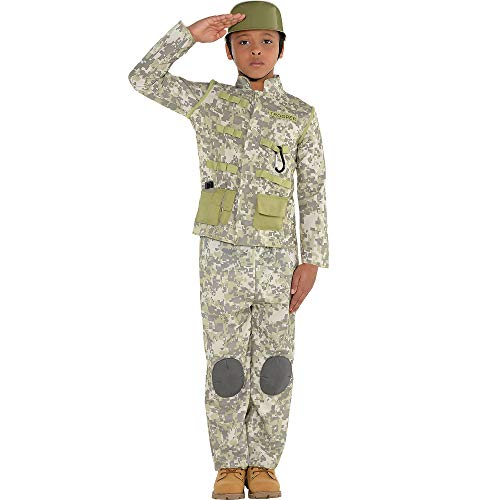 AMSCAN Combat Soldier Halloween Costume for Boys, Medium, with Included Accessories -
