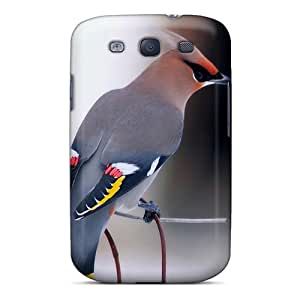 Galaxy S3 Hard Back With Bumper Silicone Gel Tpu Case Cover Ordinary Waxwing