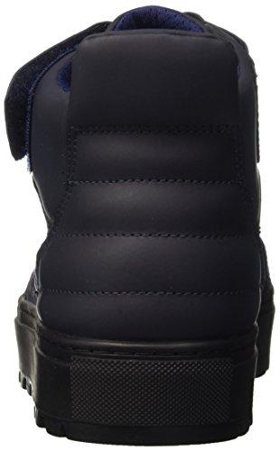Blu 766 Mid Collo Fabric Bikkembergs Leather Shoe Er M a Track Alto Scarpe Uomo UwangEqZO