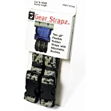 Alliance Camo Gear Strapz - Two 48 Inch x 1 Inch Felxible Camoflauge EPDM Rubber Straps with Adjustable Buckles (7744)