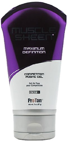 Pro Muscle Tan concurrence Définition Sheen maximale Posing Gel, 3 once