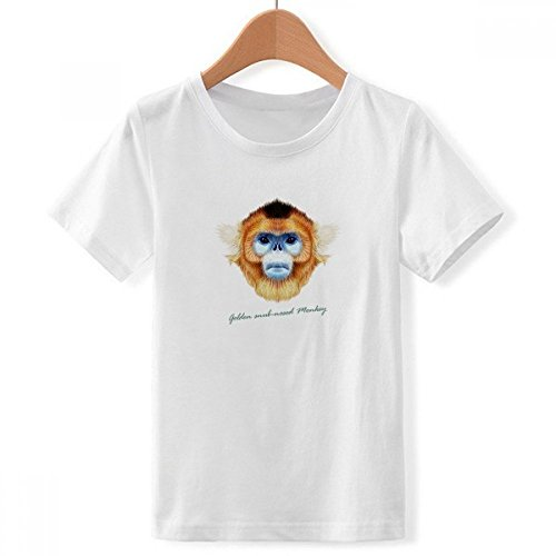 nkey Animal Crew Neck White Children T-Shirt Short Sleeve Sports Tshirts ()