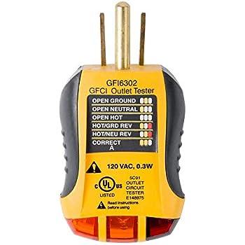 Admirable Sperry Instruments Gfi6302 Gfci Outlet Receptacle Tester Standard Wiring Cloud Battdienstapotheekhoekschewaardnl
