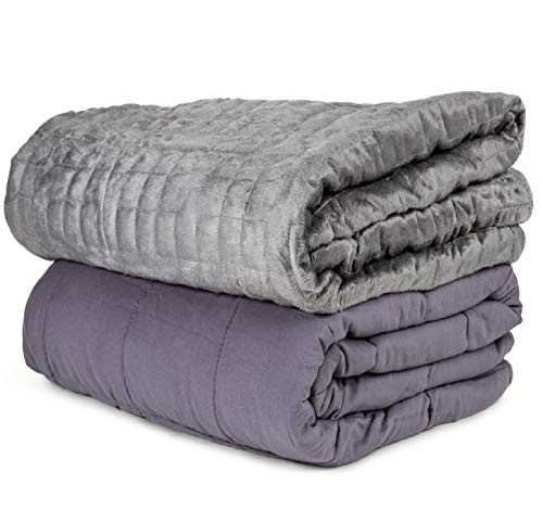 23 Comforter - Aviano 20lbs Weighted Blanket (100% Cotton) with Plush Microfiber Duvet Cover (80