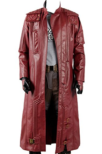 Wecos Guardians 2 Star Lord Costume Peter Jason Quill Coat -